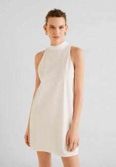 567f1d71a850d45 Платье, Mango, цвет: белый. Артикул: MA002EWFEGN0. Одежда / Платья и