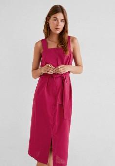 912be73de Платье джинсовое, Mango, цвет: красный. Артикул: MA002EWFLOF7. Одежда /  Платья