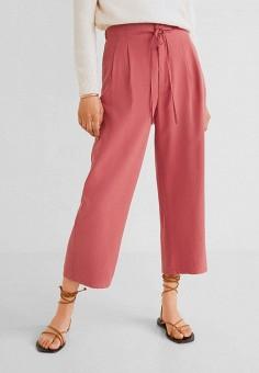 72e75527c7c9 Брюки, Mango, цвет: розовый. Артикул: MA002EWFMAR7. Одежда / Брюки