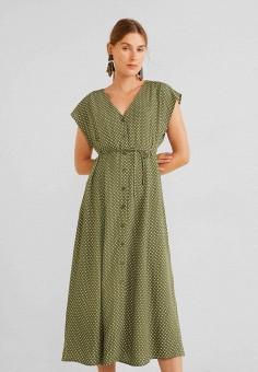 de6b98d68ddc14d Платье, Mango, цвет: зеленый. Артикул: MA002EWFMAS4. Одежда / Платья и