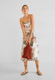 110a654070f43ef Платье, Mango, цвет: мультиколор. Артикул: MA002EWFQIT9. Одежда / Платья и