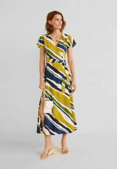 6460c9770d53614 Платье, Mango, цвет: мультиколор. Артикул: MA002EWFQJD8. Одежда / Платья и