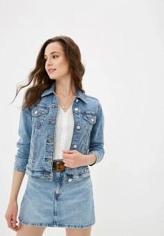 560868491339450 Куртка джинсовая, Mango, цвет: голубой. Артикул: MA002EWFRAY1. Mango