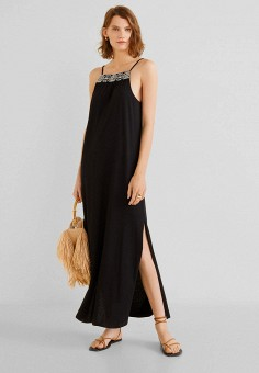 cf978cd7b8904 Платье, Mango, цвет: черный. Артикул: MA002EWFXBS7. Одежда / Платья и