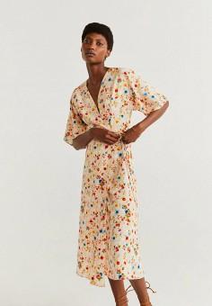 1c9b0de5ac092 Платье, Mango, цвет: бежевый. Артикул: MA002EWGAAQ5. Одежда / Платья и