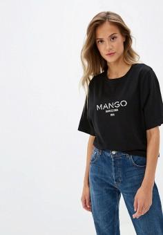 cac9df364212a Футболка, Mango, цвет: черный. Артикул: MA002EWGAEE0. Одежда / Футболки и