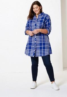 30a5222420dde07 Рубашка, Marks & Spencer, цвет: синий. Артикул: MA178EWFJJC7. Одежда