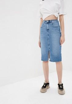 b29724036a2 Купить женские джинсовые юбки от 359 руб в интернет-магазине Lamoda.ru!