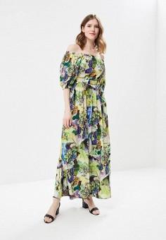 Платье, MadaM T, цвет: зеленый. Артикул: MA422EWBFDQ7. Одежда / Платья и сарафаны