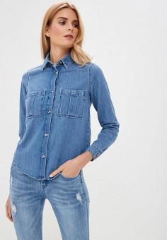 544be2ce7daa881 Рубашка джинсовая, Miss Selfridge, цвет: синий. Артикул: MI035EWEJFC1.  Одежда /