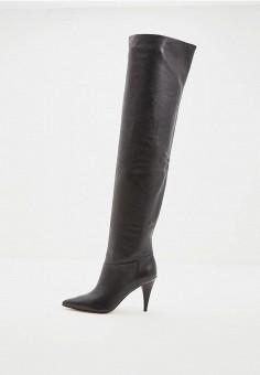 Ботфорты, Michael Michael Kors, цвет  черный. Артикул  MI048AWCUGM9. Обувь bfbecfa57bb