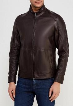 Куртка кожаная, Michael Kors, цвет  коричневый. Артикул  MI186EMWBP69.  Одежда 40e8564fdfe