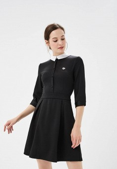 Платье, Modis, цвет: черный. Артикул: MO044EWCNOS0. Одежда / Платья и сарафаны