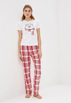 095423db0e00 Пижама, Modis, цвет  белый, красный. Артикул  MO044EWDOAO5. Одежда