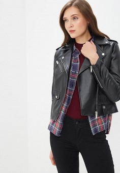 c5867e1e17f4 Куртка кожаная, Modis, цвет  черный. Артикул  MO044EWEFAV6. Одежда   Верхняя