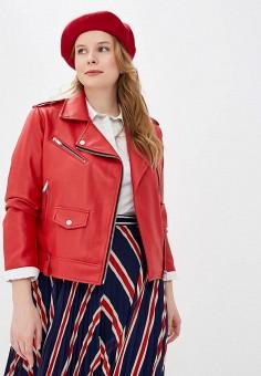 e0f2b89de02d4 Куртка кожаная, Modis, цвет: красный. Артикул: MO044EWEFAW8. Одежда /  Верхняя
