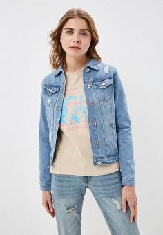 8eda5195ccb80 Куртка джинсовая, Modis, цвет: голубой. Артикул: MO044EWFCLR6. Одежда /  Верхняя