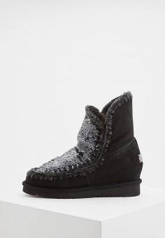 Полусапоги, Mou, цвет  черный. Артикул  MO999AWCVAX8. Premium   Обувь   86bac250cc1