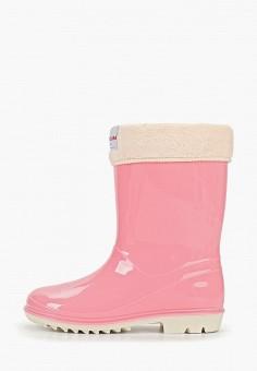 9e075fdee Резиновые сапоги, Tervolina, цвет: розовый. Артикул: MP002XC008KG. Девочкам  / Обувь