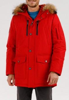 Пуховик, Finn Flare, цвет: красный. Артикул: MP002XM0T1P0.