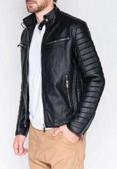 Куртка кожаная, Ombre, цвет  черный. Артикул  MP002XM23YMN. Одежда   Верхняя f21aba16469