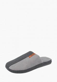 Тапочки, De Fonseca, цвет  серый. Артикул  MP002XM23YOV. Обувь   Домашняя a024b4e9390