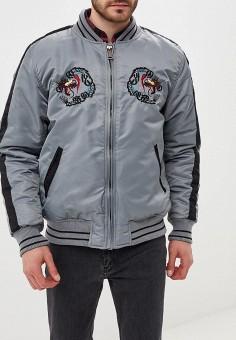 d4ae59d143c9 Куртка утепленная, Schott N.Y.C., цвет  серый. Артикул  MP002XM23YZL.  Одежда