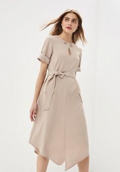 ff12dbe00616ebd Платье, Модный дом Виктории Тишиной, цвет: бежевый. Артикул: MP002XW022UH.  Одежда