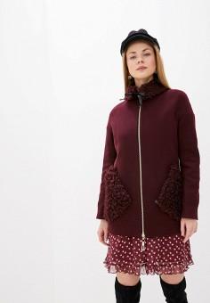 Пальто, Karolina, цвет: бордовый. Артикул: MP002XW0HFVD. Одежда / Верхняя одежда / Пальто / Зимние пальто