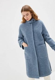 Пальто, Vamponi, цвет: голубой. Артикул: MP002XW0HYWK. Одежда / Верхняя одежда / Пальто / Зимние пальто