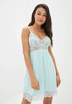 166473e369b9634 Сорочка ночная, Deseo, цвет: бирюзовый. Артикул: MP002XW0QZGM. Одежда /  Домашняя