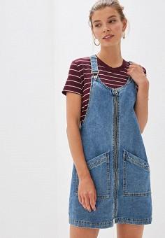 c7a42f3fb6e3909 Платье джинсовое, Befree, цвет: синий. Артикул: MP002XW0R0AE. Одежда /  Платья