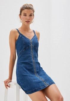 c811adc2a478f Платье джинсовое, Befree, цвет: синий. Артикул: MP002XW0R0CJ. Одежда /  Платья