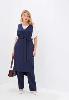 Костюм, Авантюра Plus Size Fashion, цвет: синий. Артикул: MP002XW0R1T7. Авантюра Plus Size Fashion