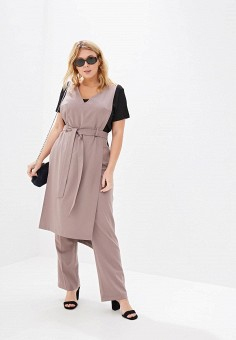 Костюм, Авантюра Plus Size Fashion, цвет: бежевый. Артикул: MP002XW0R1T8. Авантюра Plus Size Fashion