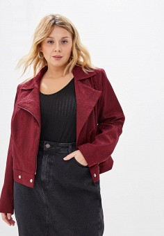 Куртка, Авантюра Plus Size Fashion, цвет: бордовый. Артикул: MP002XW0R1TC. Авантюра Plus Size Fashion