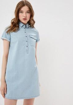 4f9a3c364b33751 Платье джинсовое, Befree, цвет: голубой. Артикул: MP002XW0SJI2. Одежда /  Платья