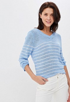 7b1342605 Пуловер, Zarina, цвет: голубой. Артикул: MP002XW0SKE3. Одежда / Джемперы,