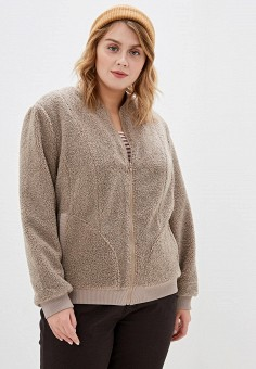 Куртка, Авантюра Plus Size Fashion, цвет: бежевый. Артикул: MP002XW0ZXBL. Авантюра Plus Size Fashion