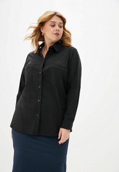 Блуза, Авантюра Plus Size Fashion, цвет: черный. Артикул: MP002XW11WNZ. Авантюра Plus Size Fashion