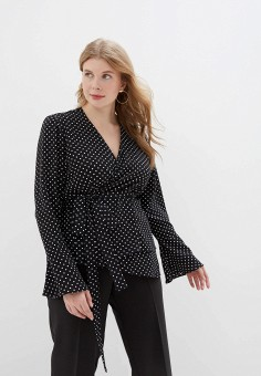 Блуза, Авантюра Plus Size Fashion, цвет: черный. Артикул: MP002XW1245I. Авантюра Plus Size Fashion