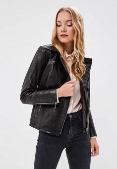 Куртка кожаная, Grafinia, цвет: черный. Артикул: MP002XW13TFR.