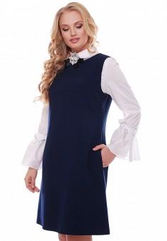 9dd8c9814ba87 Платье, Vlavi, цвет: синий. Артикул: MP002XW13VVK. Одежда / Одежда больших