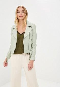 Куртка кожаная, La Reine Blanche, цвет: зеленый. Артикул: MP002XW15J5J.