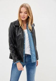 Куртка кожаная, La Reine Blanche, цвет: черный. Артикул: MP002XW15J5P.