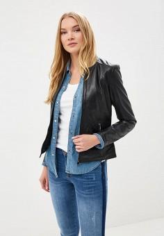 Куртка кожаная, La Reine Blanche, цвет: черный. Артикул: MP002XW15J5Q. Одежда / Верхняя одежда / Кожаные куртки