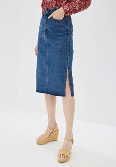 ccdfc2fc24b77 Юбка джинсовая, Befree, цвет: синий. Артикул: MP002XW18MP2. Одежда / Юбки