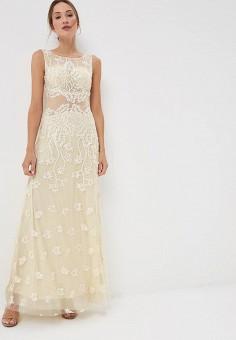 Платье, X'Zotic, цвет: бежевый. Артикул: MP002XW19BXA. Одежда / Платья и сарафаны