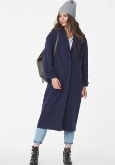 56e589f79da Купить синие женские пальто от 1 749 руб в интернет-магазине Lamoda.ru!