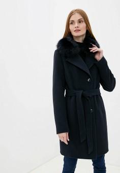 Пальто, Almarosa, цвет: синий. Артикул: MP002XW1BX3X. Одежда / Верхняя одежда / Пальто / Зимние пальто
